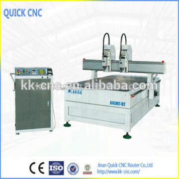 jinan quick cnc company wood cnc machine with two spindles