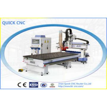Automatic wood working carving machine cnc router Machine with ATC for door