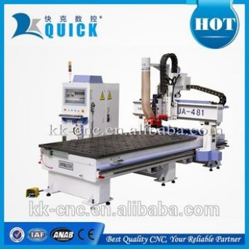 wood working cnc machine with linear tool changer