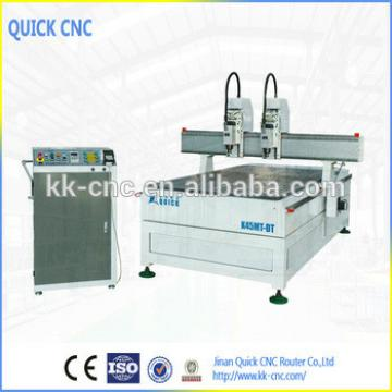 cnc wood carving machine,1300*2500mm multi-spindles woodworking cnc router for sale ,K45MT-DT Synchronous Type