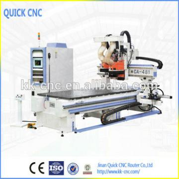 Best cnc router with boring head /drill and saw and auto tool changer CA-481