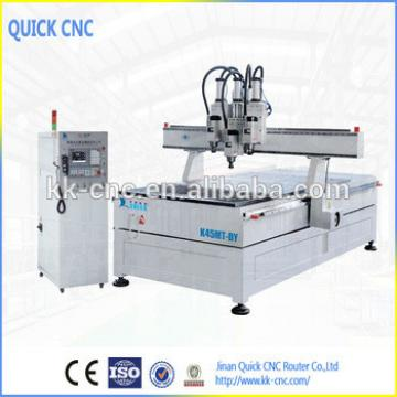 wood cnc router with multi spindles K45MT-DY