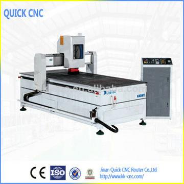 Jinan QUICK CNC ROUTER CO.,LTD ,wood door making cnc machine ,with 4th axis ,(roatry aixs) ,working area 1300*2500 K1325