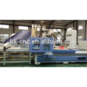 cnc flat bed router with auto loading and unloading system
