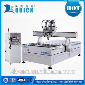 wood cnc router with multi spindles