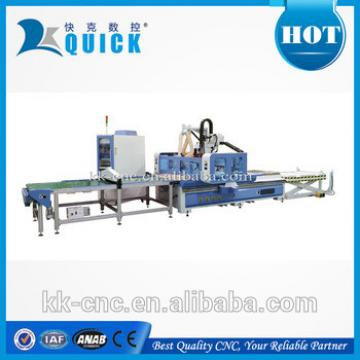CNC wood engraving machine/ loading and unloading cnc router