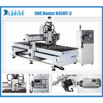 multi head cnc wood carving machine K45MT-3 for sale
