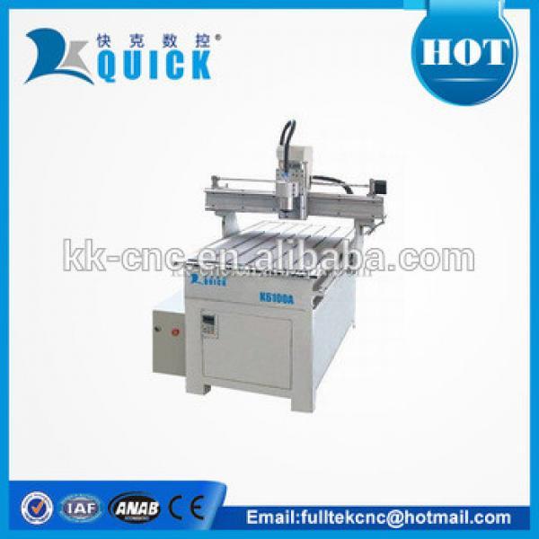cnc mini engraving machine K6100A with vacuum t-slot table #1 image