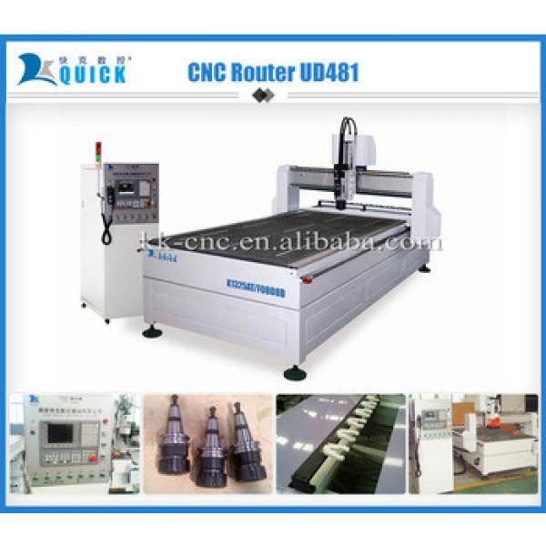 hot sale cnc router machine with auto tool changer,UD481,9kw Italy HSD spindle #1 image